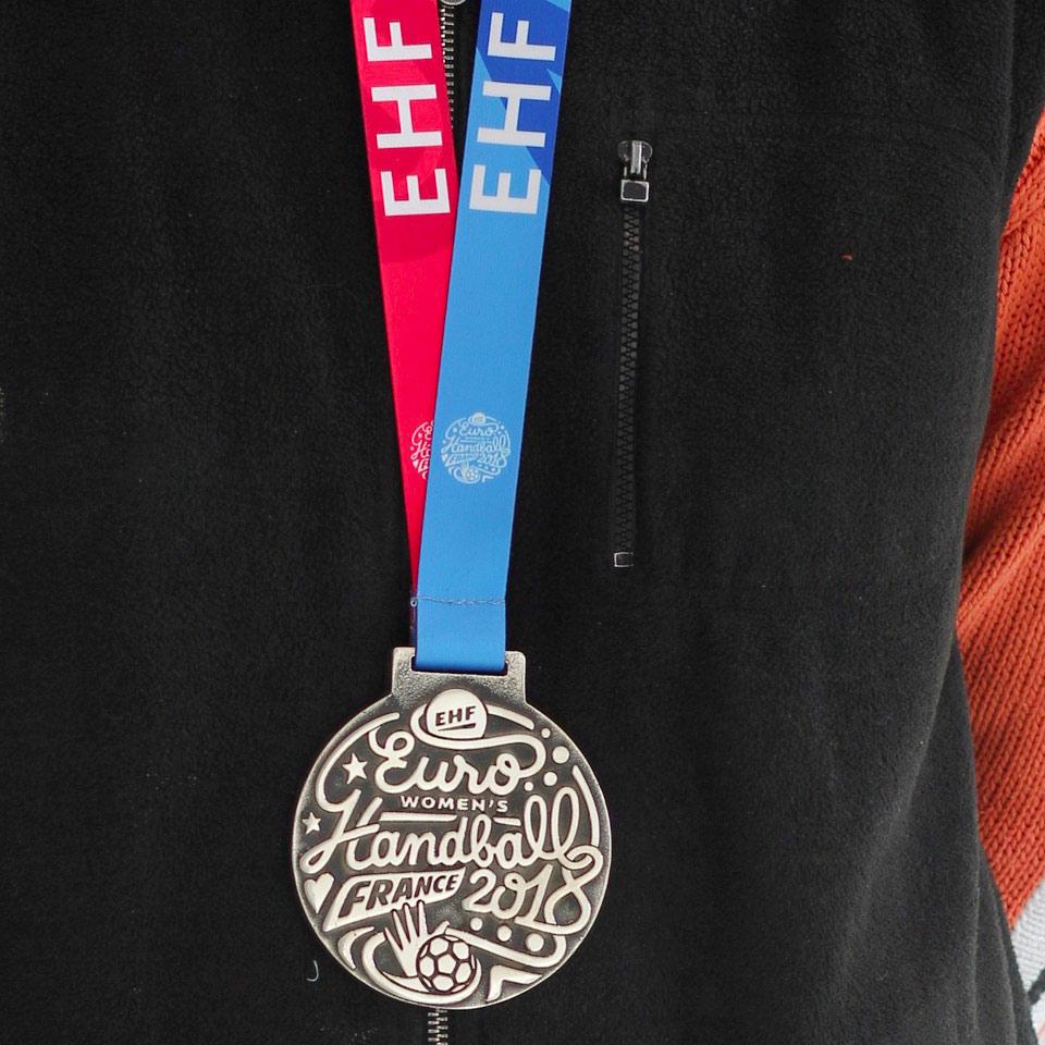 Médaille bronze Euro Hand
