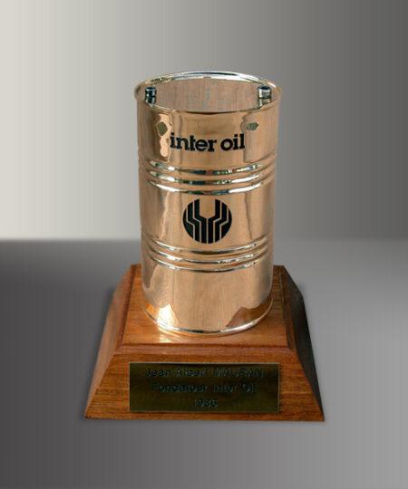 Trophée bronze reproduction produit : Inter Oil