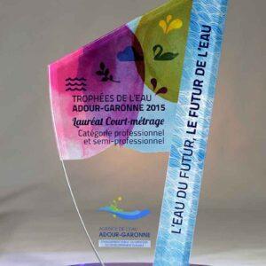 Trophée Oxala plexi couleur 1