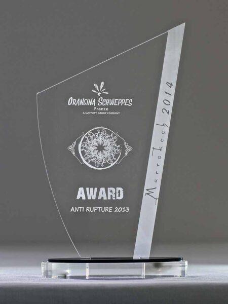 Trophée Oxala plexi gravé