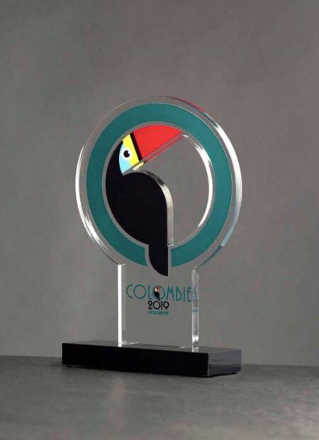 Trophée plexi Colombie